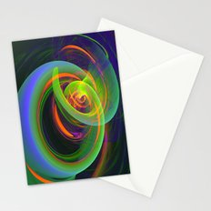 Turbulence, modern fractal abstract Stationery Cards