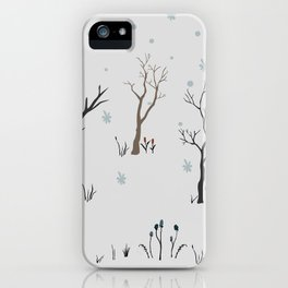 Winter Coming to Woods iPhone Case