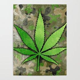 Weed Leaf Poster