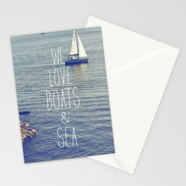 We love Boats and Sea Stationery Cards
