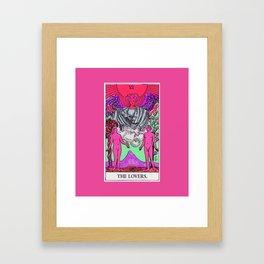 6. The Lovers- Neon Dreams Tarot Framed Art Print