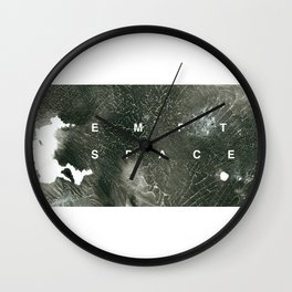 Abstract Empty Space Wall Clock