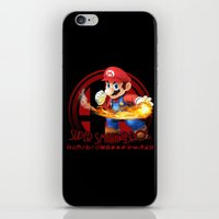 super smash bros iPhone & iPod Skins featuring Mario - Super Smash Bros. by Donkey Inferno