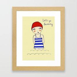 Lets go Swimming Framed Art Print