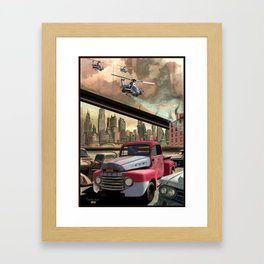 A Day In The Future (Pt 1) Framed Art Print