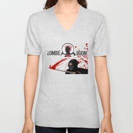 ZGB Zombie Go Boom Executioner with Katana  Unisex V-Neck