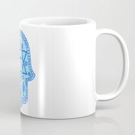 Hamsa for blessings - david shield - blue Coffee Mug