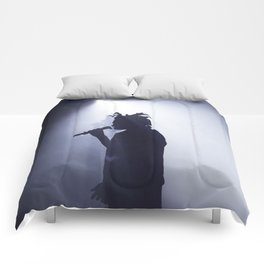 Abel on stage Comforters