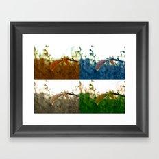 Varations of Leaves Framed Art Print