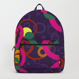 Abstract Pink and Purple Circle Pattern - Colorful Art Backpack