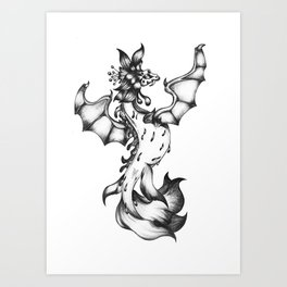 Sea-dragon Female  Art Print