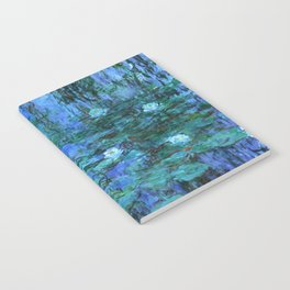 Claude Monet Water Lilies BLUE Notebook