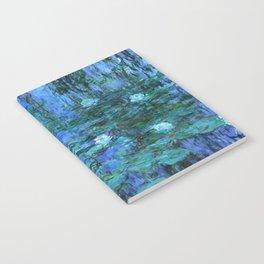 Claude Monet Water Lilies BLUE Notebook