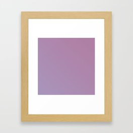 Soft Pink Purple Gradient Framed Art Print