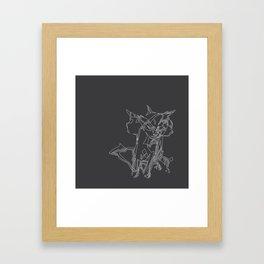 Cat Movement Framed Art Print