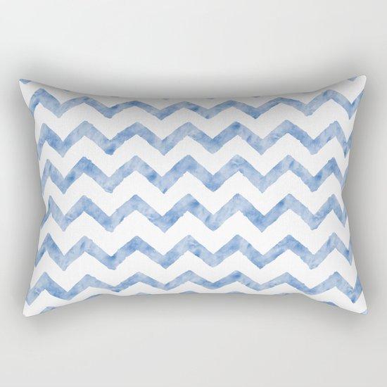 Chevron Light Blue And White Rectangular Pillow