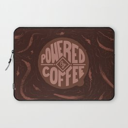 powered by coffee and swirls Laptop Sleeve