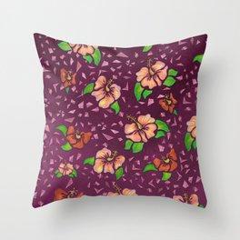 Flor de Maga - Warm Colors Throw Pillow