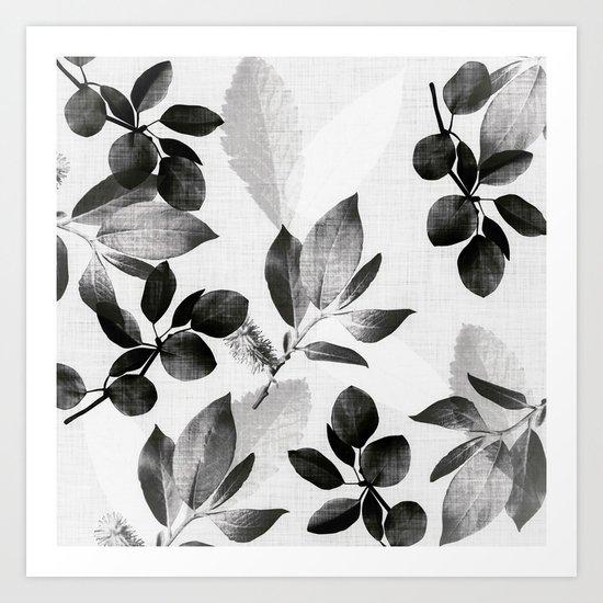 Foliage - nightfall Art Print