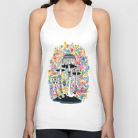 mushrooms Tank Tops featuring Mushrooms by Asja Boros