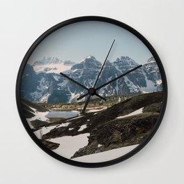 Ten Peaks Wall Clock