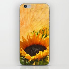 Good Morning Sunflower iPhone Skin