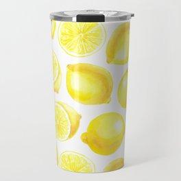 Watercolor lemons design Travel Mug