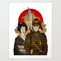 Samurai's Daughter Art Print