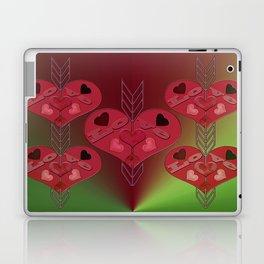Arrow Shooting Love Hearts Laptop & iPad Skin