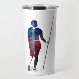 javelin throw #sport #javelinthrow Travel Mug