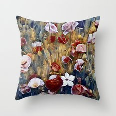 Poppies and Such Throw Pillow