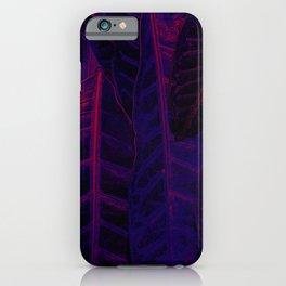 Purple leaves iPhone Case