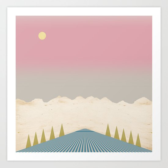 The Mountains and the Stream Art Print