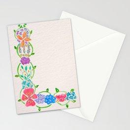 Flowered Letter L Stationery Cards