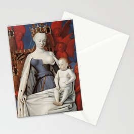 Madonna and Child by Jean Fouquet, 1452 Stationery Cards