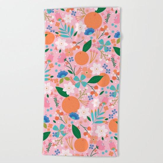 Orange Blossom Beach Towel