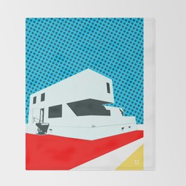 Bauhaus Meisterhaus Pop 3 Throw Blanket