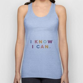 I Know I Can Postive Print Unisex Tank Top