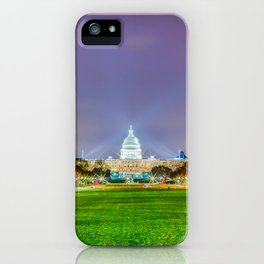 The Capitol Building At Night iPhone Case