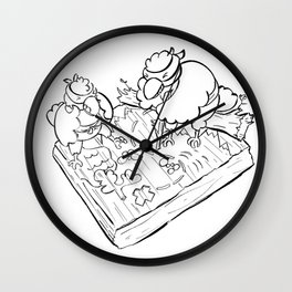 Ninja Strategy - ink Wall Clock