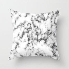 Black & White Marble Throw Pillow