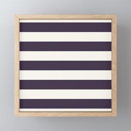 summer beach coastal nautical french fashion navy blue stripes Framed Mini Art Print