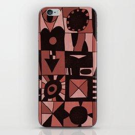 Geometric shapes #4 red iPhone Skin