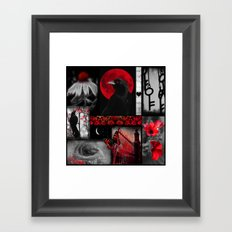 Gothic Red Framed Art Print