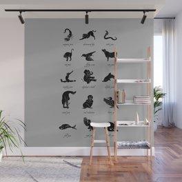 Animal Yogis_Black Wall Mural
