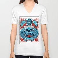 unicorns V-neck T-shirts featuring Unicorns by Tshirt-Factory