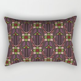 Arts and Crafts style floral pattern Rectangular Pillow