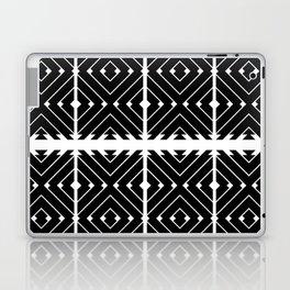 MONOCHROMA Geometrica : Black & White Box Pattern Laptop & iPad Skin