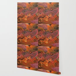 Fall Thoughts II - Abstract Acrylic Painting Wallpaper