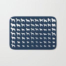 All Dogs (Navy) Bath Mat